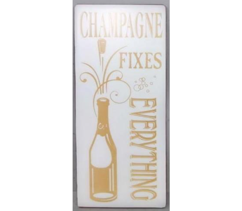 Champagne fixes everything!