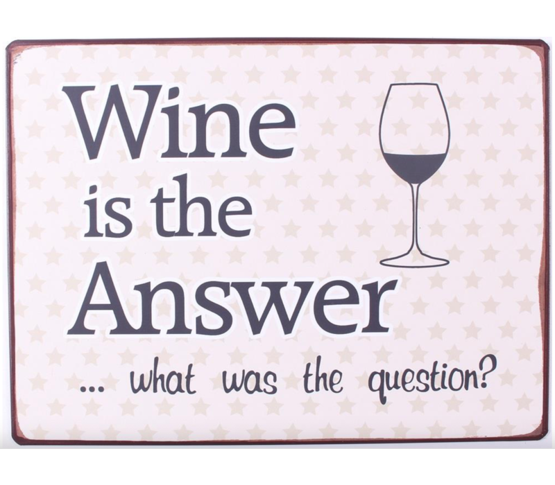Wine is the answer... What was the question?