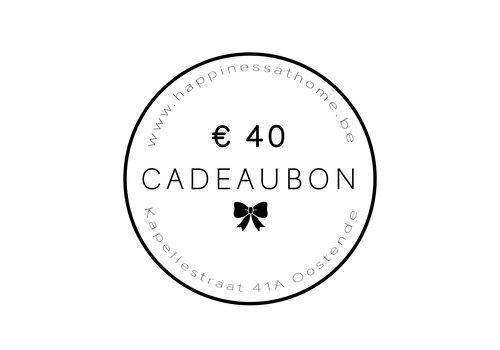 € 40 CADEAUBON