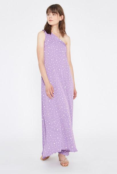 Violet dress Polka Dots