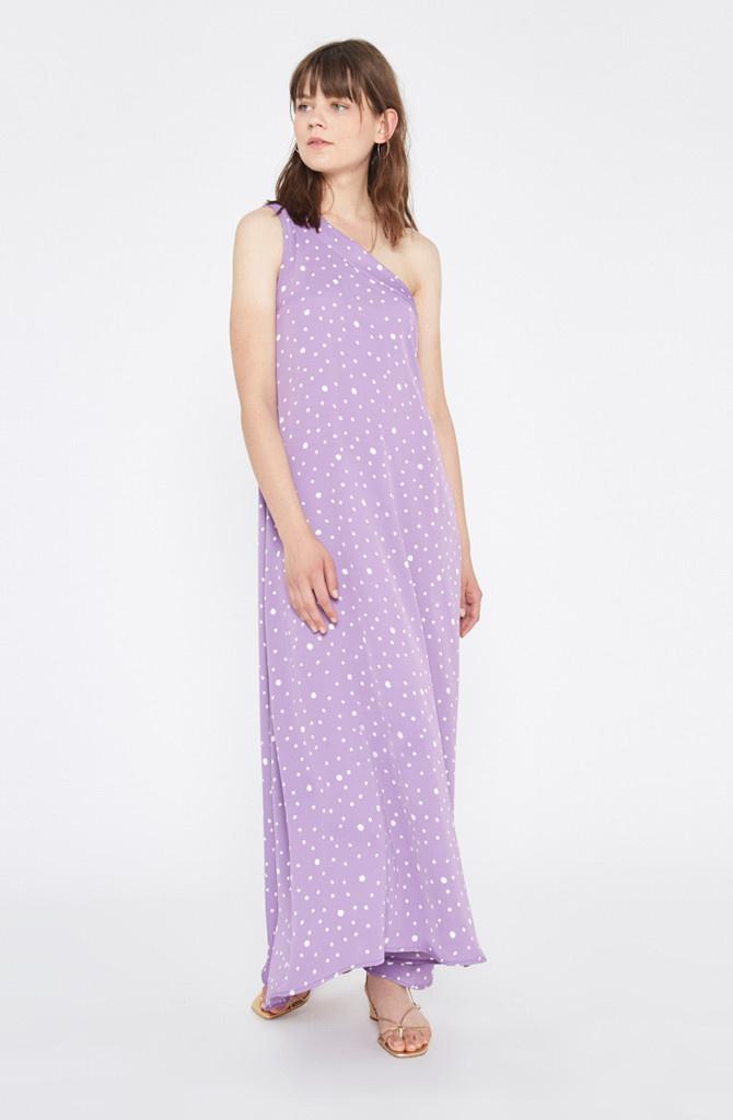 Violet dress Polka Dots-1