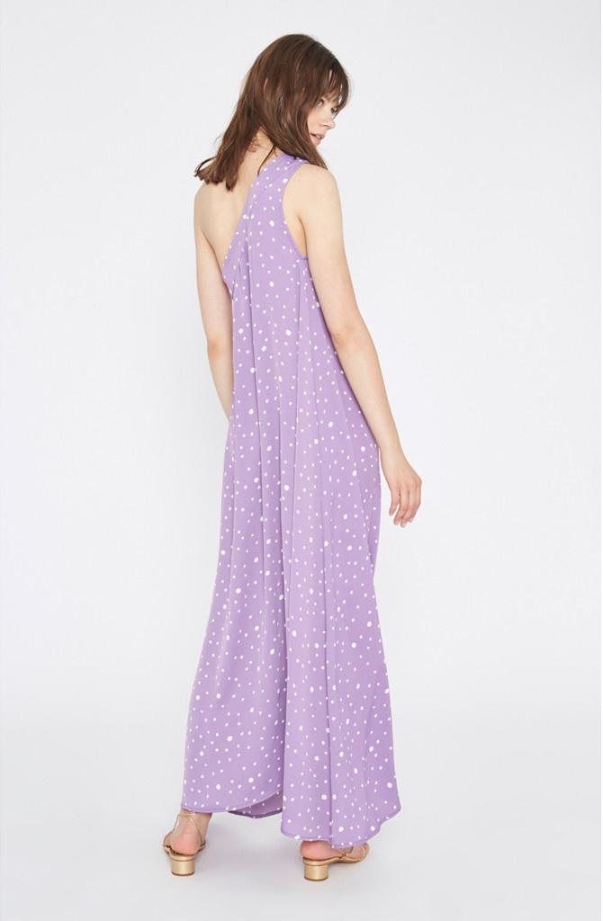 Violet dress Polka Dots-2