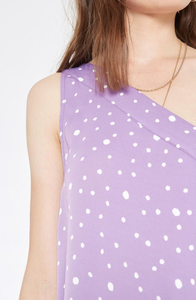 Violet dress Polka Dots-3