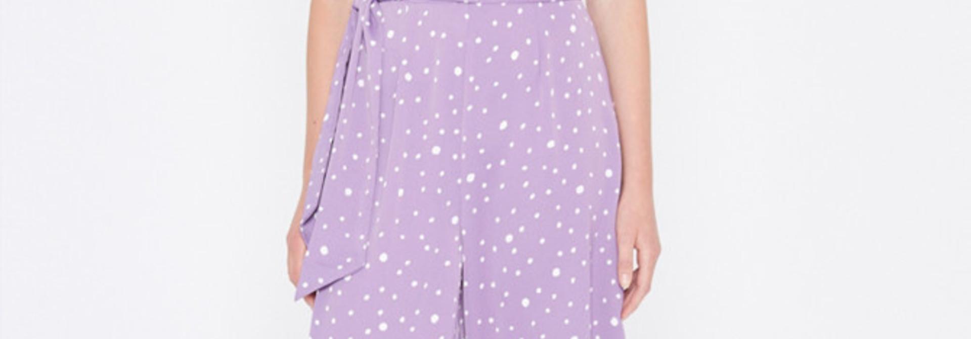 Violet jumpsuit Polka Dots Lila