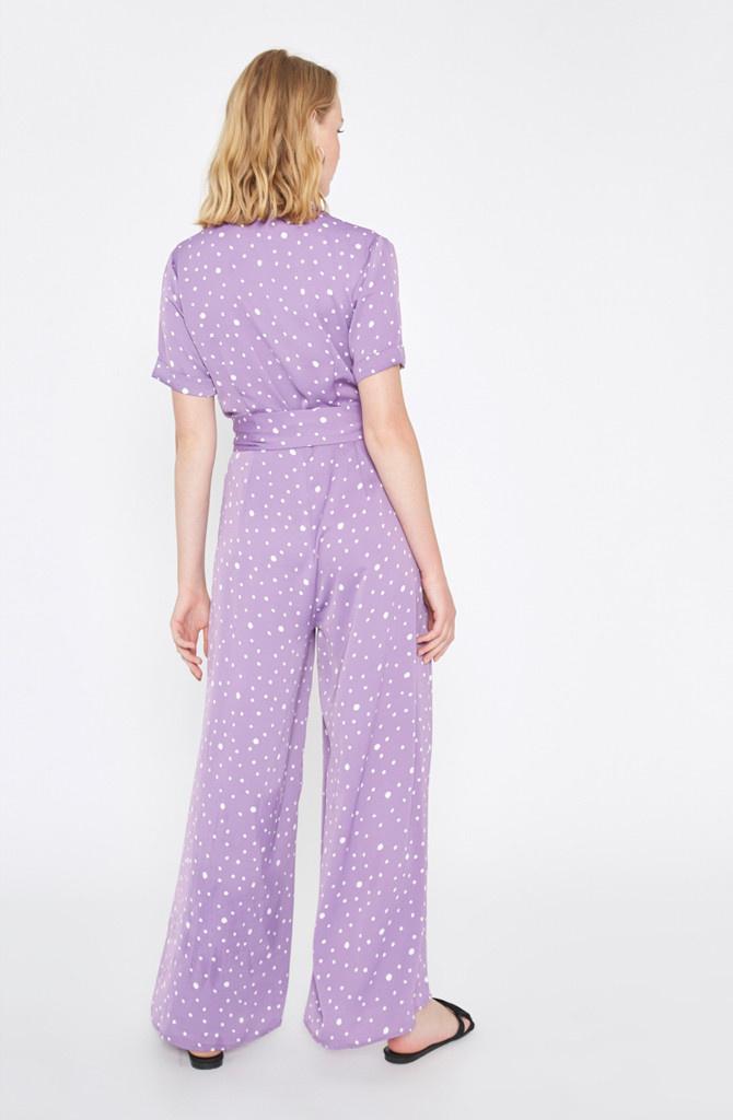 Violet jumpsuit Polka Dots Lila-2