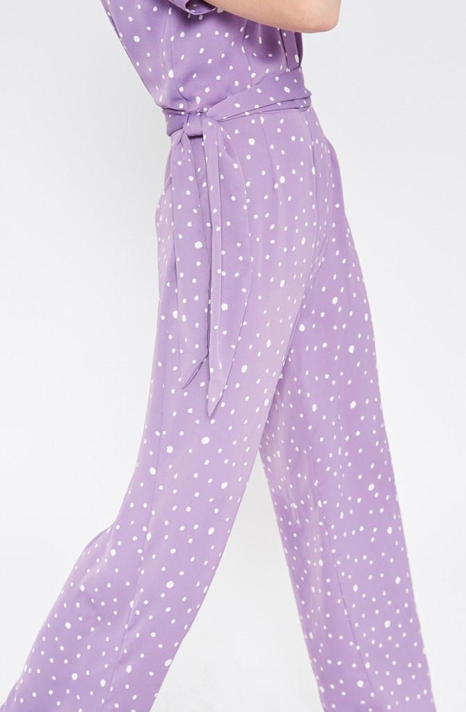 Violet jumpsuit Polka Dots Lila-3