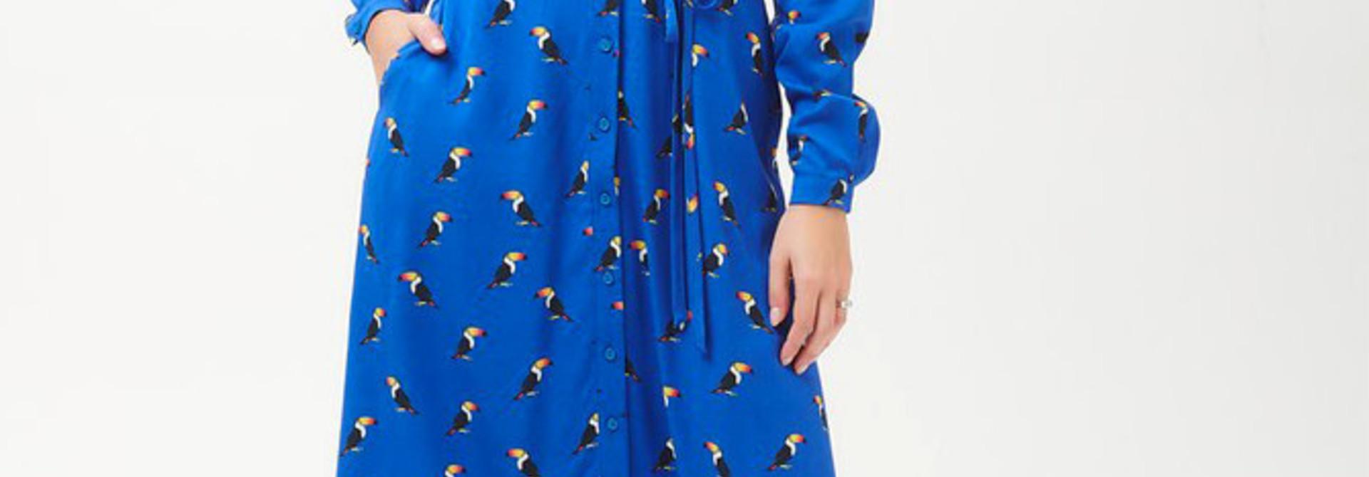 Elspeth midi shirt dress Blue Toucan