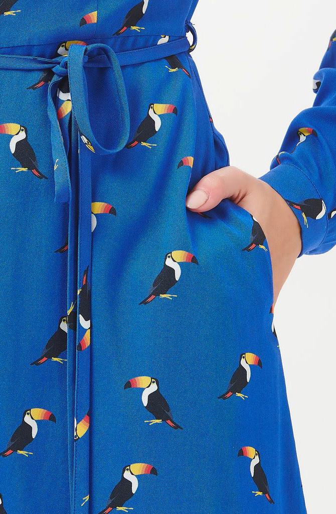 Elspeth midi shirt dress Blue Toucan-3
