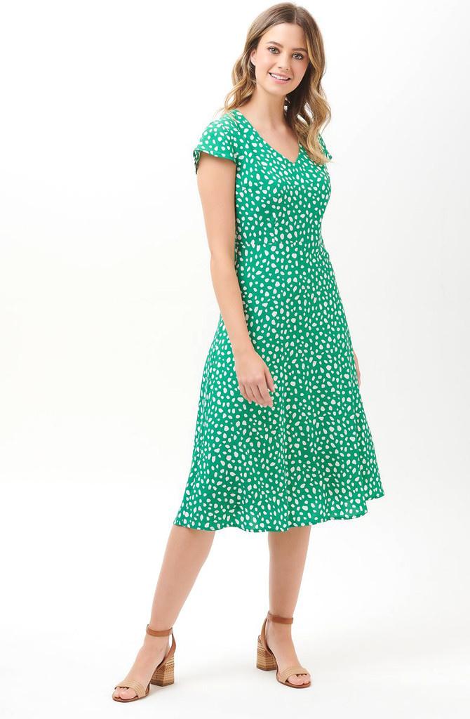 Xanthe midi dress Green-2
