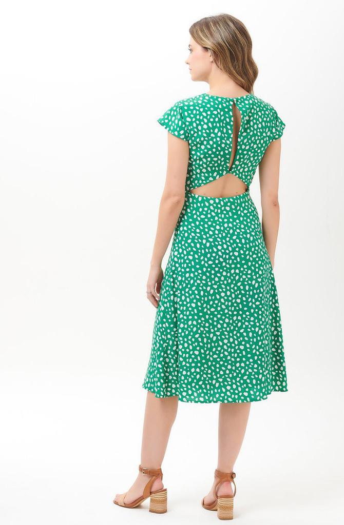Xanthe midi dress Green-1