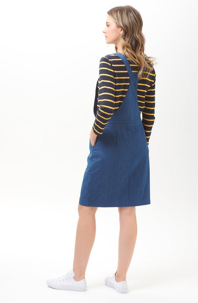 Toni dungaree dress Denim-2