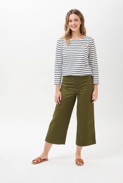 Alma cropped wide pant Khaki