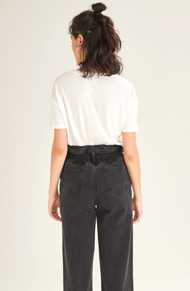 Texa paperbag Black Jeans-2