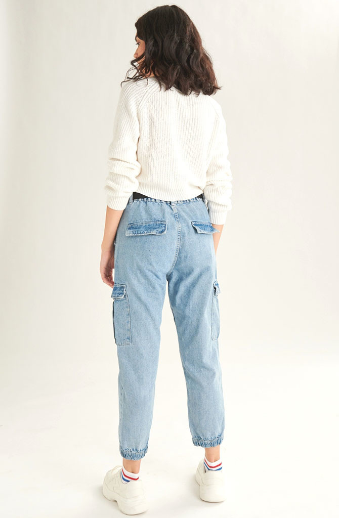 Üde cargo jeans Light Blue-2