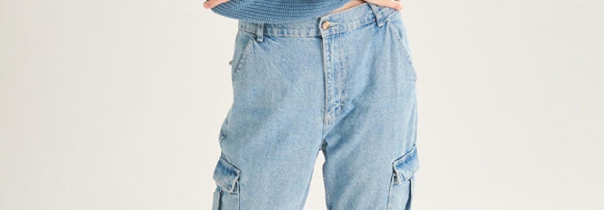 Üde cargo jeans Light Blue