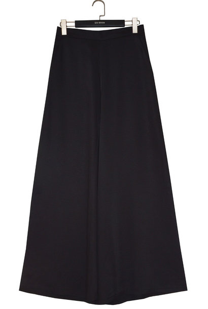 Nourin wide satin pant Black