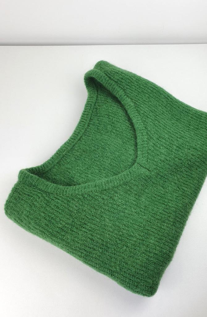 Loren reversible V-neck knit Bottle Green-3
