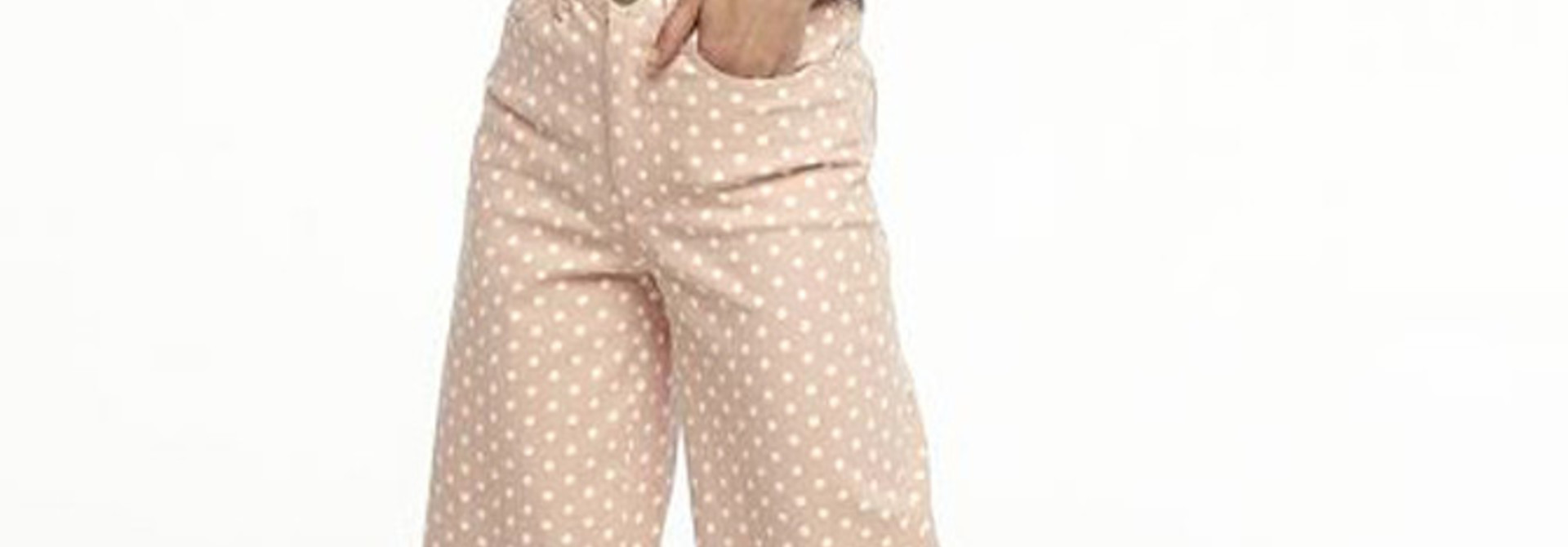 Cruz cropped pant Dot Pink