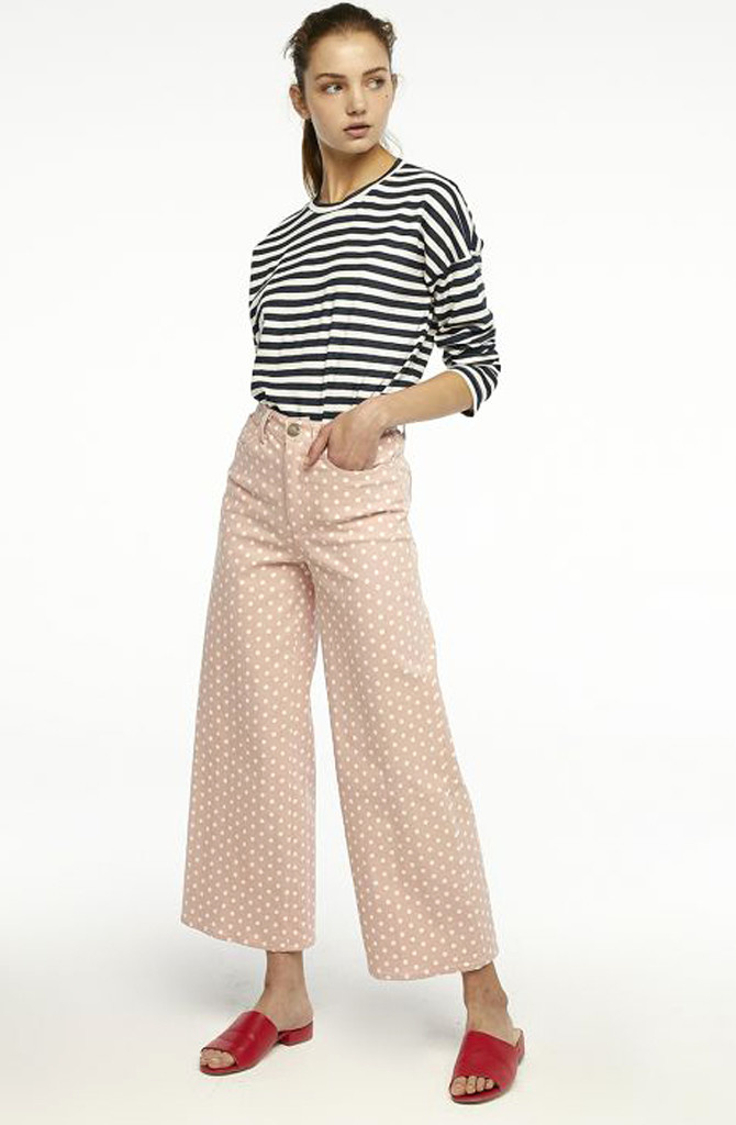 Cruz cropped pant Dot Pink-1