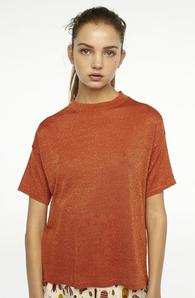 Danita t-shirt  Brown Chili-1