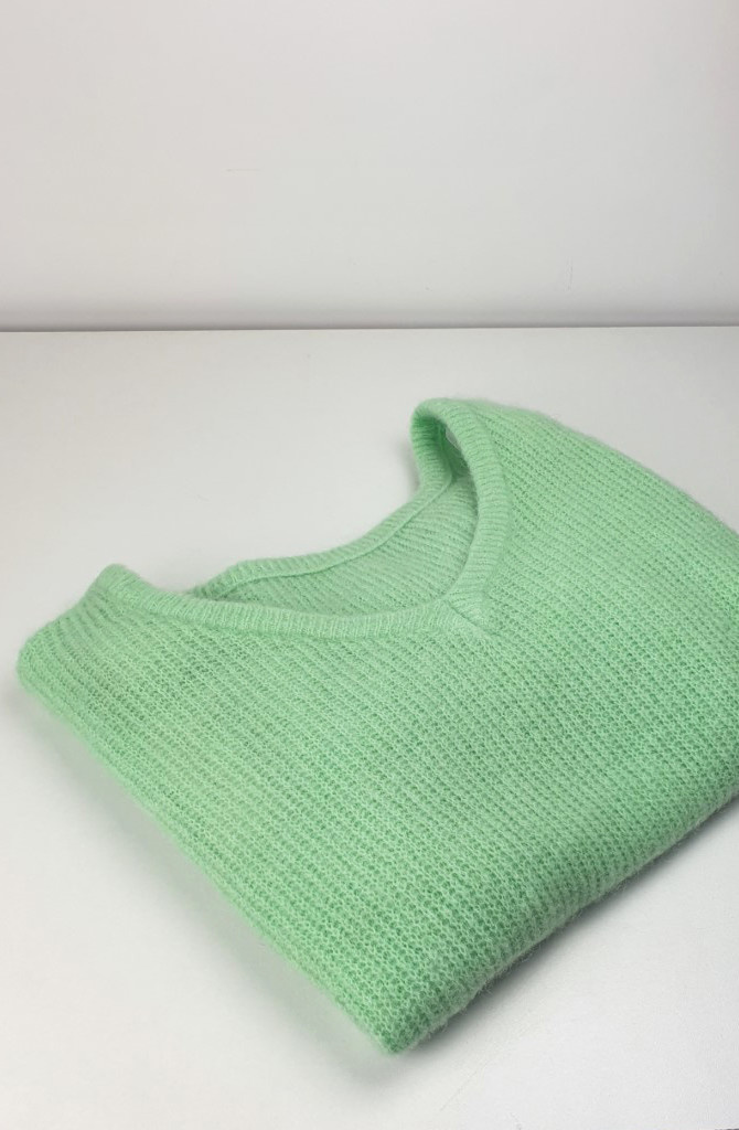 Loren reversible V-neck knit Mint-2