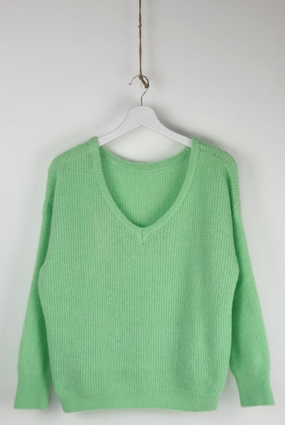 Loren reversible V-neck knit Mint