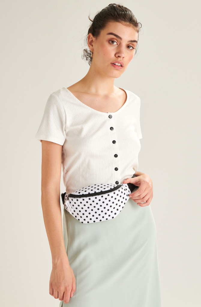 Bolras waistbag White Dots-1