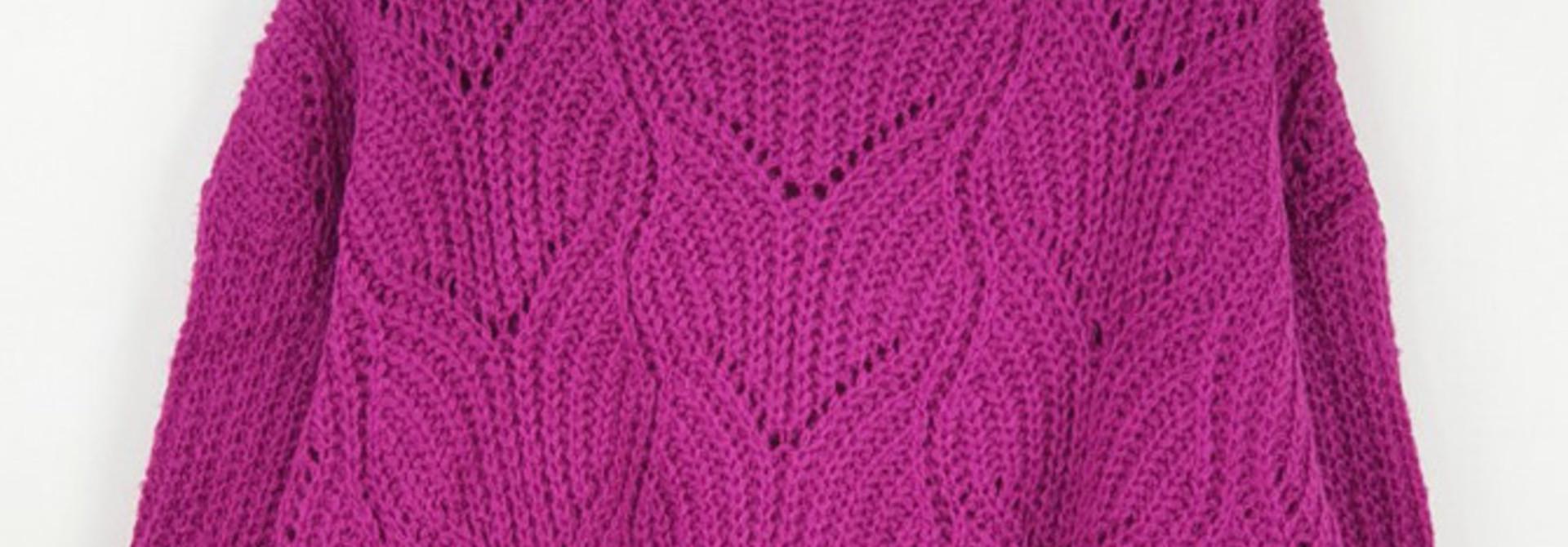 Emea ajour knit Bright Purple