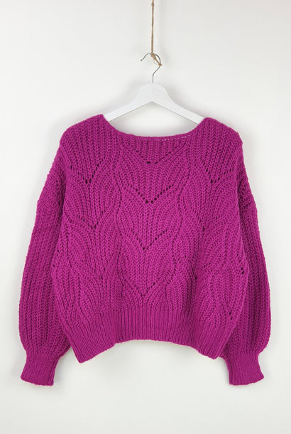 Emea ajour knit Bright Purple