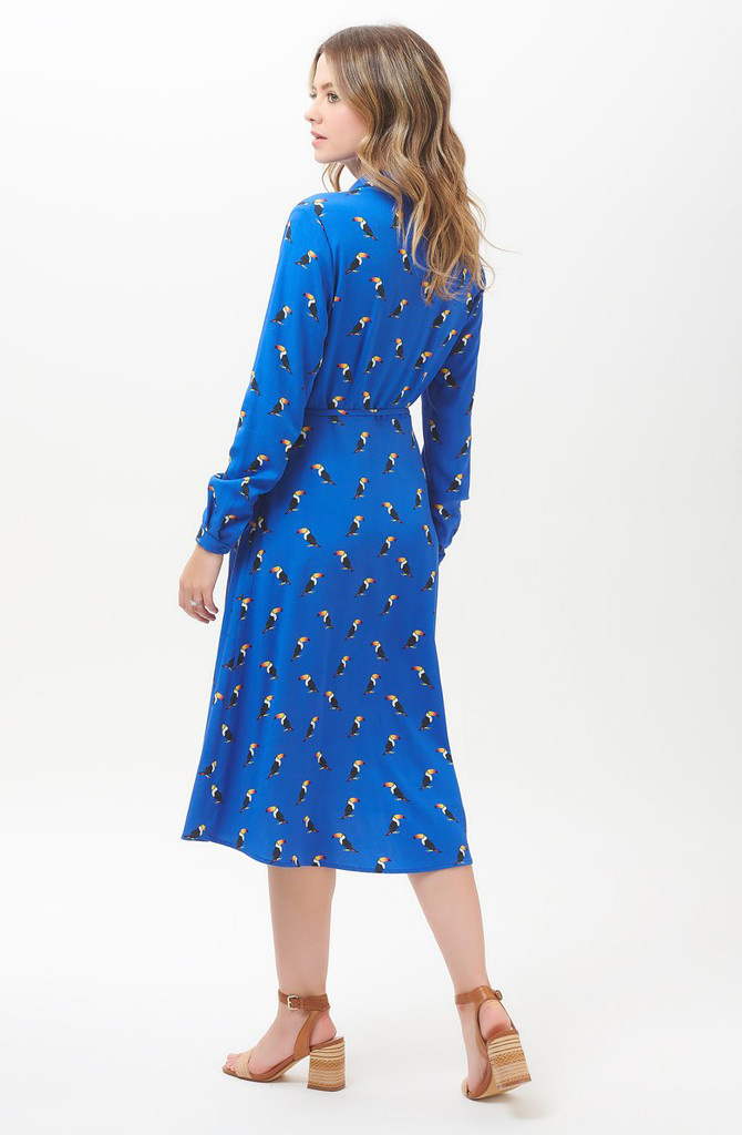 Elspeth midi shirt dress Blue Toucan-5
