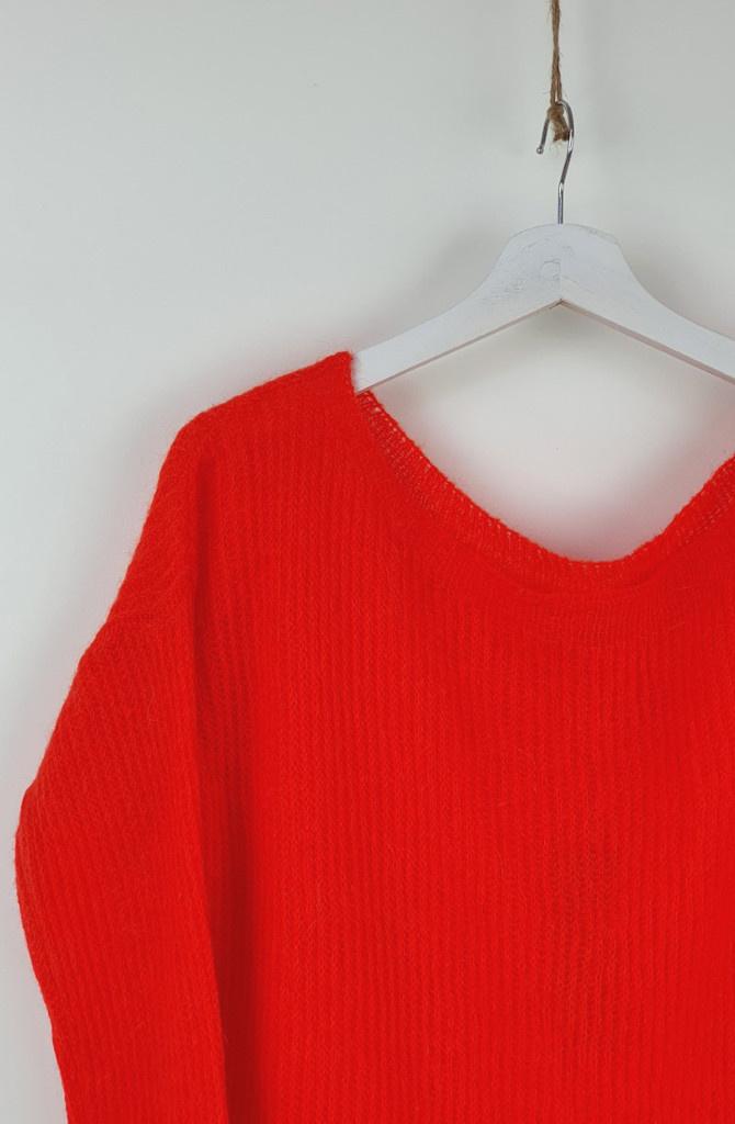 Felice fine Knit Orange-2