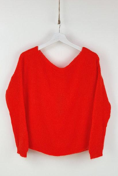 Felice fine Knit Orange