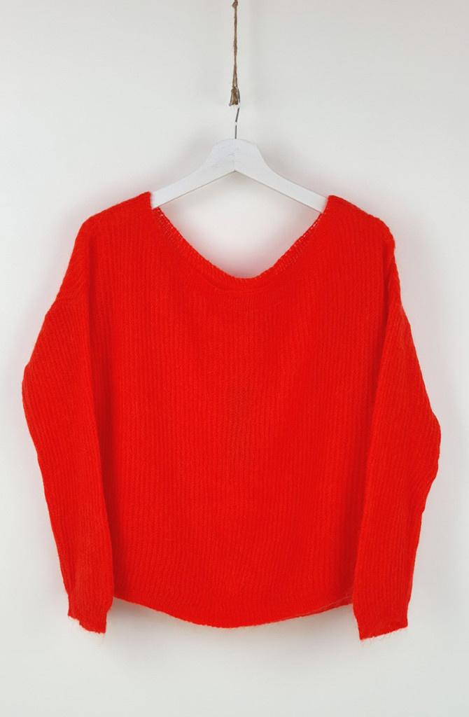 Felice fine Knit Orange-1