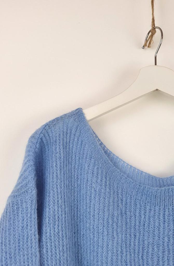 Felice fine knit Sky Blue-2