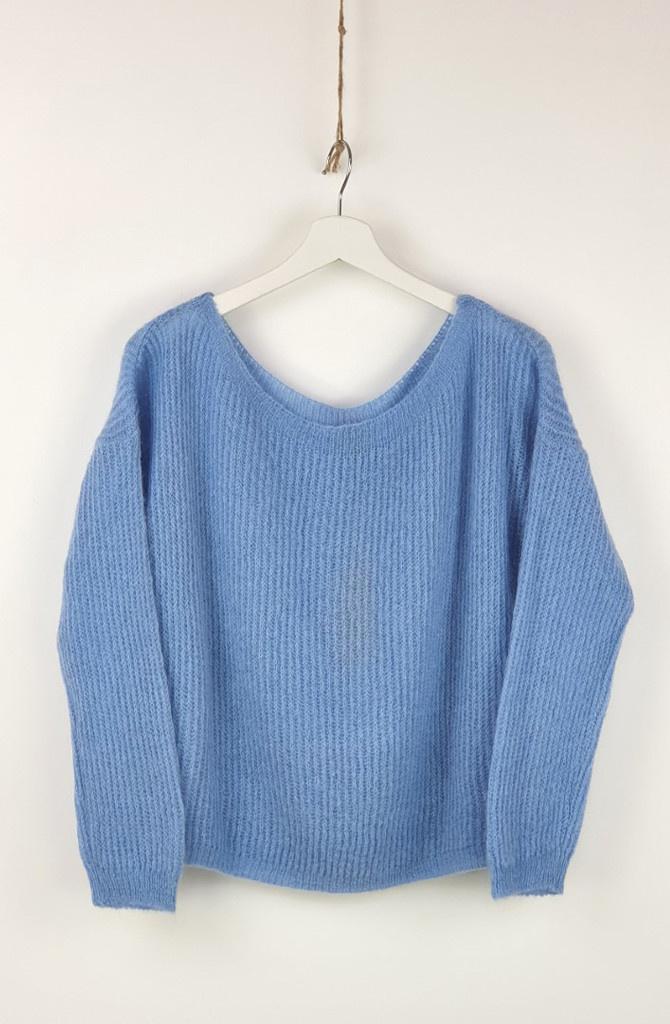Felice fine knit Sky Blue-1