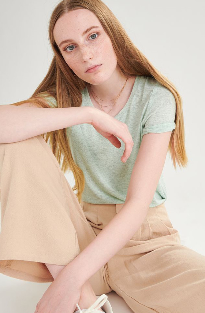 Tamma cotton t-shirt Mint-1