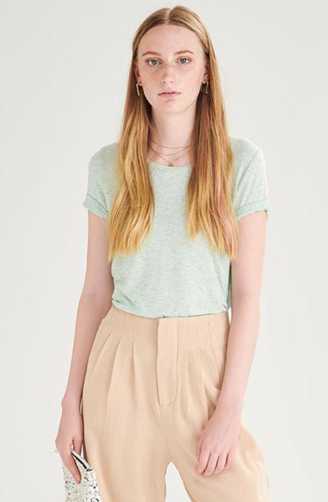 Tamma cotton t-shirt Mint-3