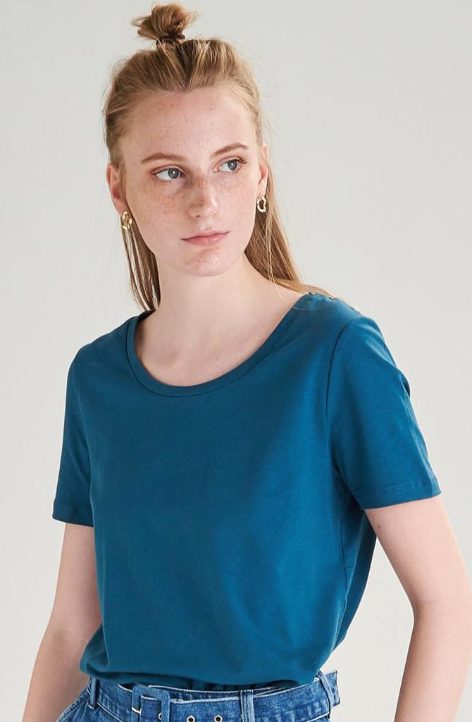 Tamma cotton t-shirt Petrol-1