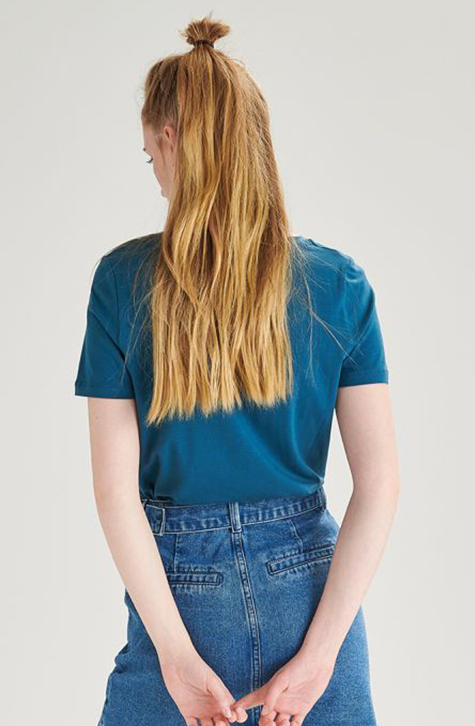 Tamma cotton t-shirt Petrol-3