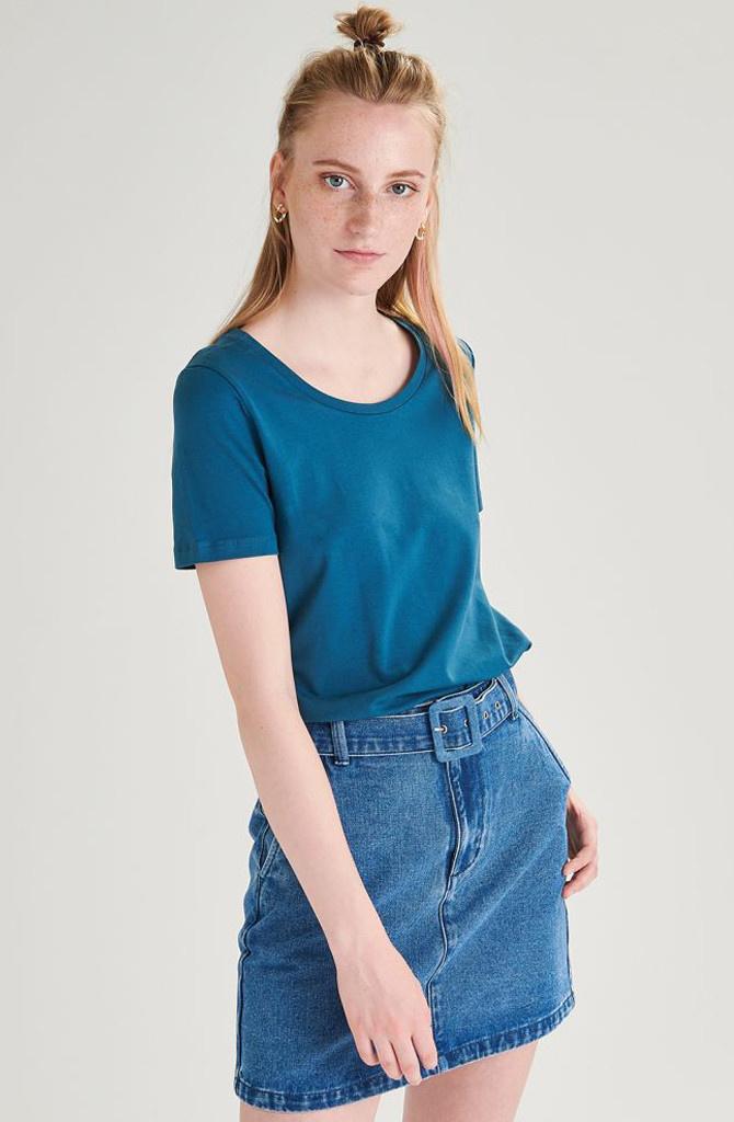 Tamma cotton t-shirt Petrol-2