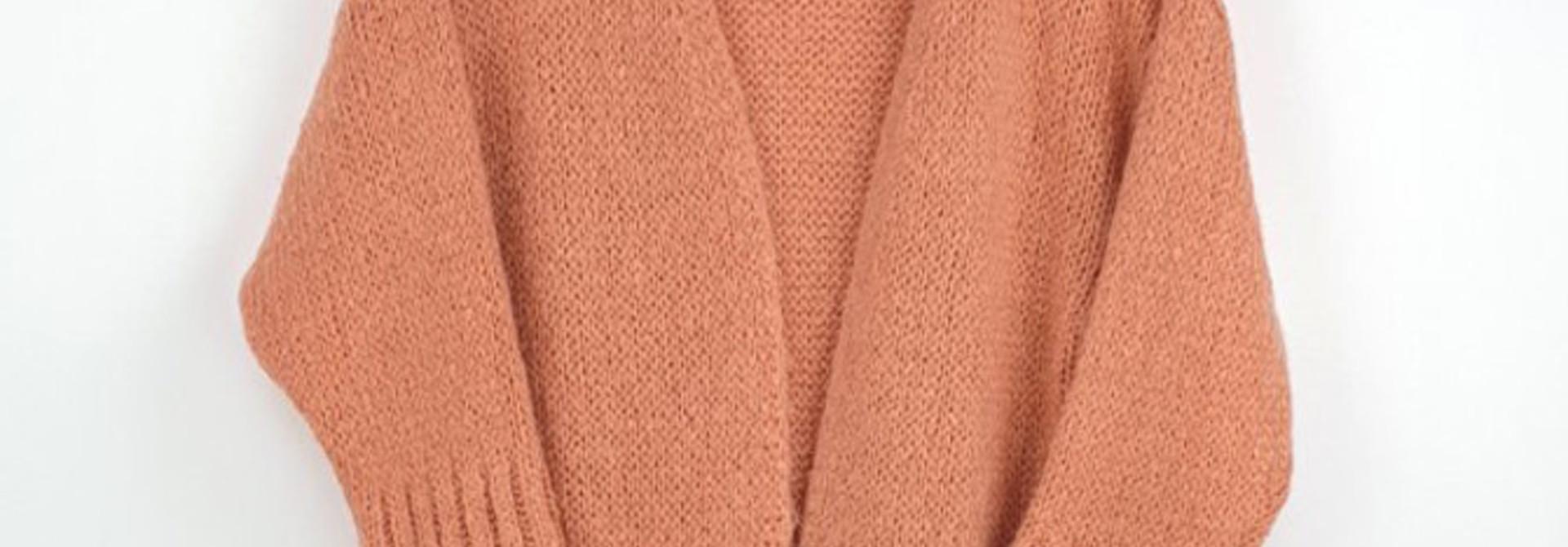 Noreen long cardigan Soft Abrico