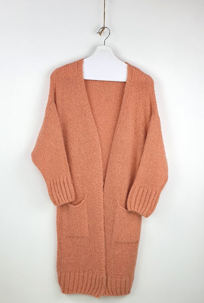 Noreen long cardigan Soft Abrico