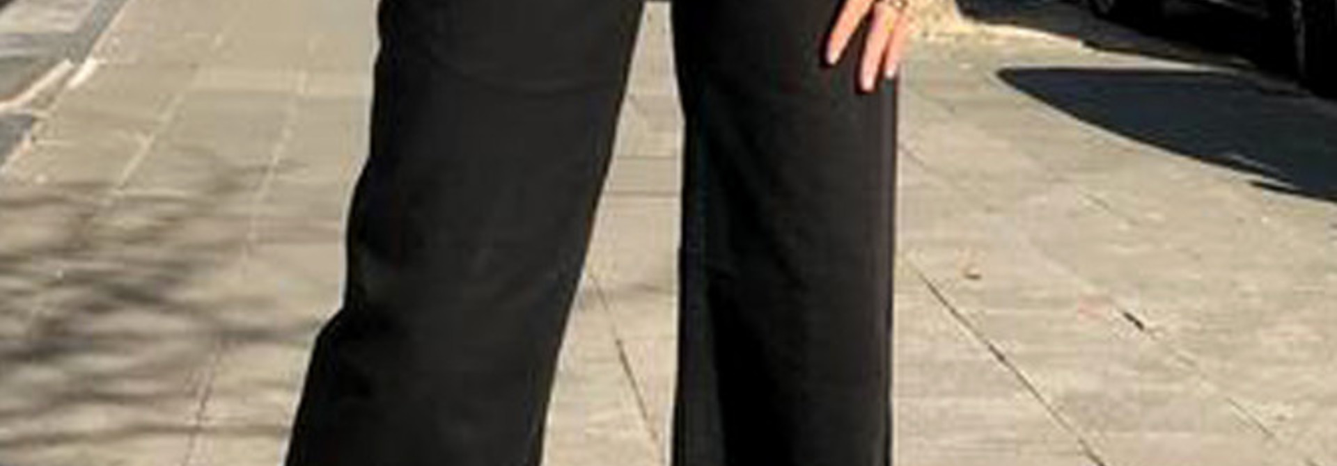 Trosh fringed wide pant Black
