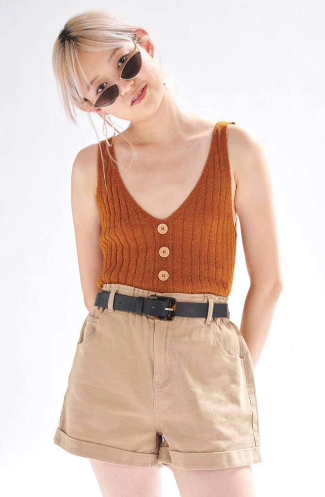 Bryndis knitted top Hazel-1