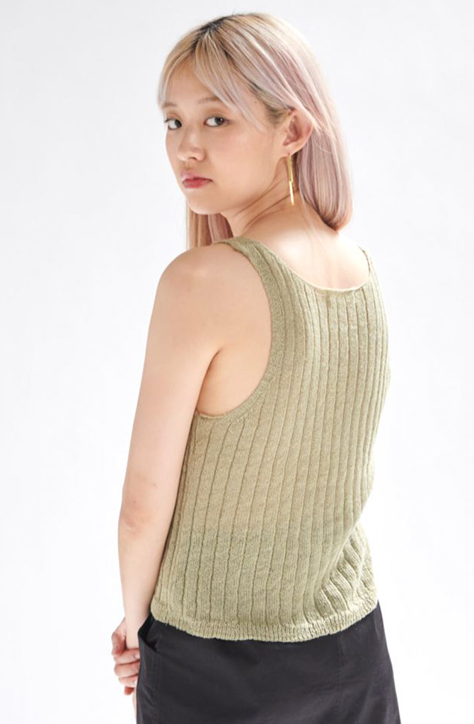 Bryndis knitted top Moss-2