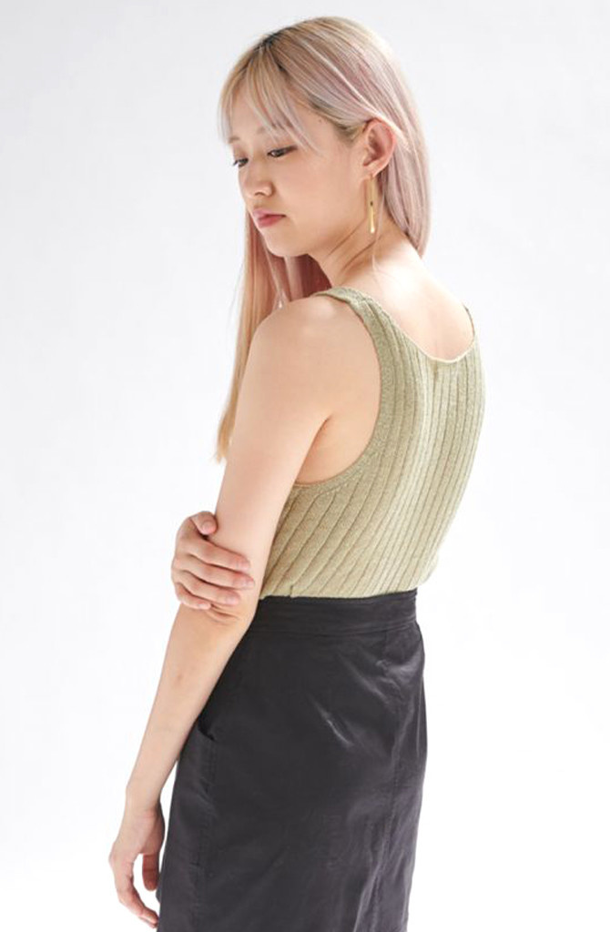 Bryndis knitted top Moss-3