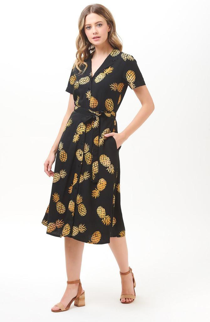 Kendra shirtdress Batik Pineapple-7