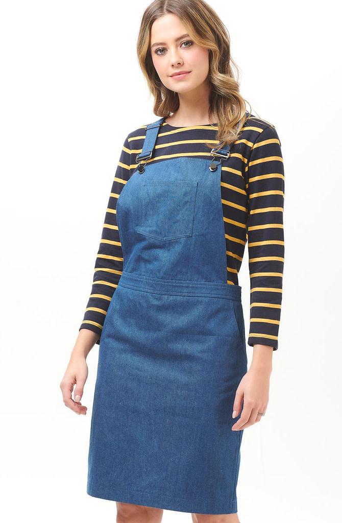 Toni dungaree dress Denim-4