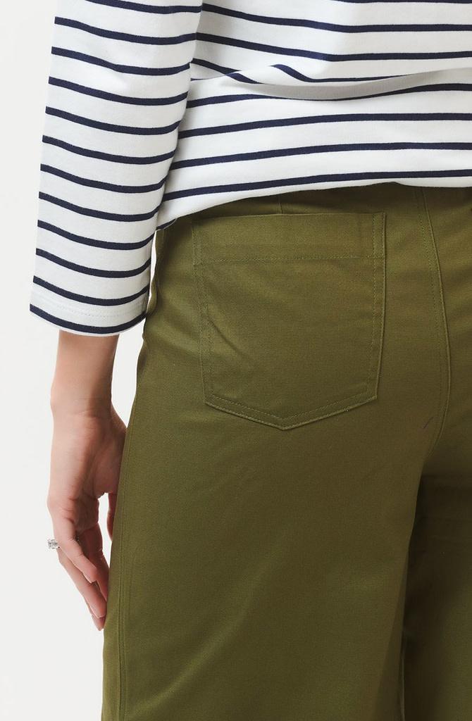Alma cropped wide pant Khaki-5