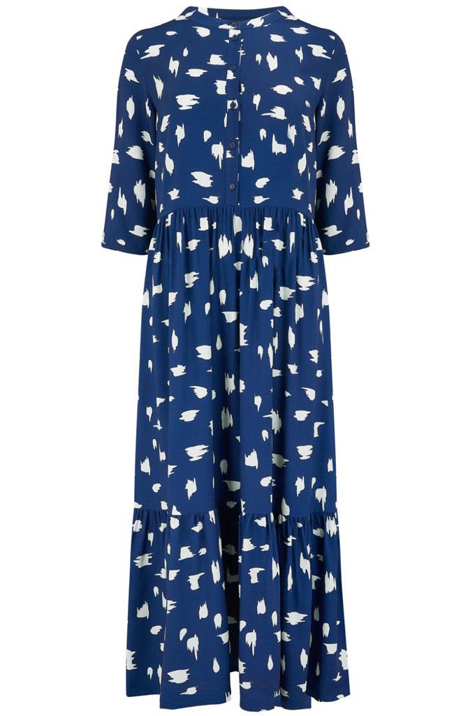 Lauren smock dress Animal Blue-1